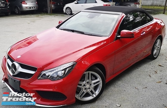 2014 MERCEDES-BENZ E-CLASS 2014 MERCEDES BENZ E250 2.0 CABRIOLET CGI AMG JAPAN SPEC CAR SELLING PRICE ONLY RM 239000.00 NEGO