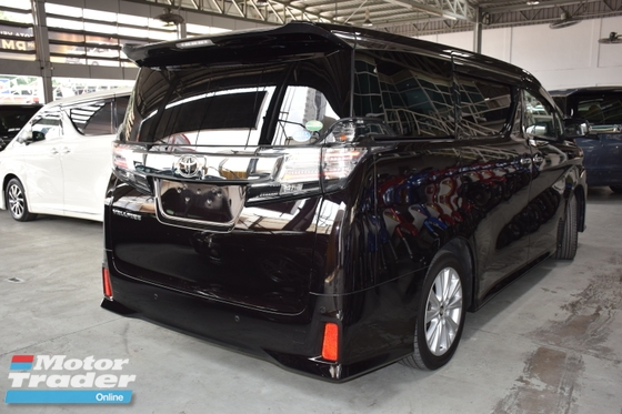 2016 TOYOTA VELLFIRE 2.5ZA Edition AFFORDABLE UNIT YEAR END SALE