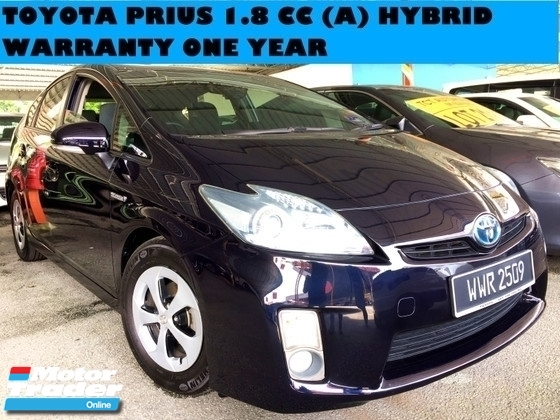 2012 TOYOTA PRIUS 1.8 CC HYBRID (A) GOOD CONDITION SPORT RIMS