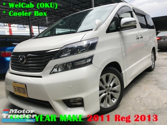 2011 TOYOTA VELLFIRE 3.5 V6 vvti  - Cooler Box - 2 Power Door - Power Boot - power boot- surround sound system- welcab - 1director owner,acc free,full service record,full loan,rm0 d.payment,3.xx%....