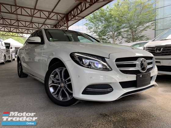 2015 MERCEDES-BENZ C-CLASS C200 AVANTGARDE JAPAN SPEC RADAF SAFETY MEMORY SEARS UNREG