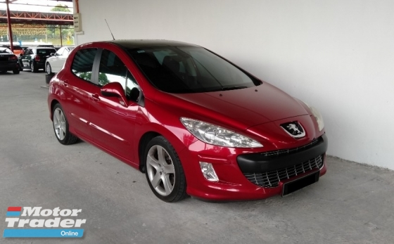2012 PEUGEOT 308 1.6 Turbo Panoramic 6 Speed Auto Facelift