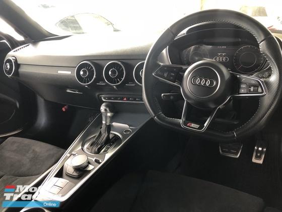 2016 AUDI TT 2.0 S-Line Quattro Turbocharged S-Tronic 230hp Matrix LED Virtual Cockpit MMI Auto Bucket Seat Multi Function Paddle Shift Steering Reverse Camera Unreg