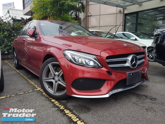 2015 MERCEDES-BENZ C-CLASS 2015 Mercedes C200 AMG W205 JPN Spec Power Boot Head Up Display Unregister for sale