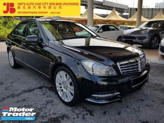 2012 MERCEDES-BENZ C-CLASS C200 CGI (A) 49K KM ONLY , FULL SERVICE RECORD