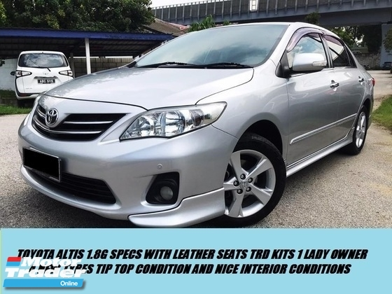 2015 TOYOTA COROLLA ALTIS 1.8 G FACELIFT TRD SPEC FULL BLACK INTERIOR 1OWNER