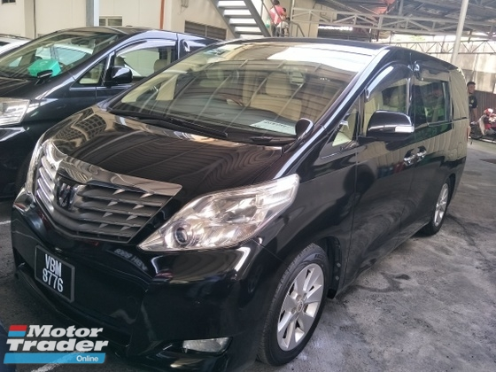 2009 TOYOTA ALPHARD 2.4 g spec 2 electric memory 7 seater auto cruise control dvd player with surrouns sound system rear