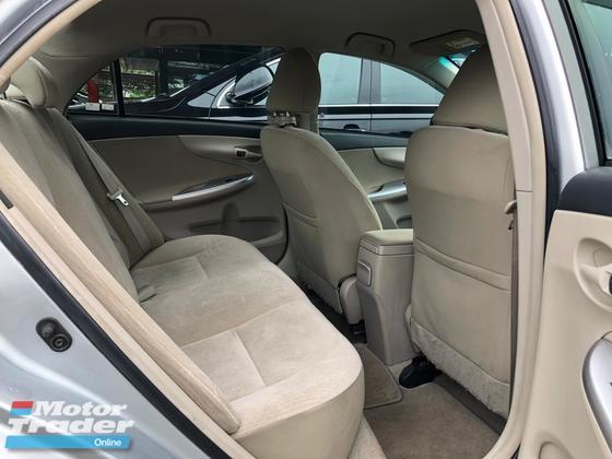 2012 TOYOTA ALTIS 1.6 DUAL VVTI FACELIFT AUTO