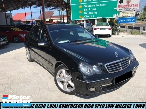 2007 MERCEDES-BENZ C-CLASS C230 1.8(A)  KOMPRESSOR ONE OWNER LOW MILEAGE TIPTOP CONDITION