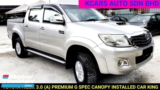 2012 TOYOTA HILUX DOUBLE CAB 3.0G (AT) PREMIUM SPEC with CANOPY INSTALLED