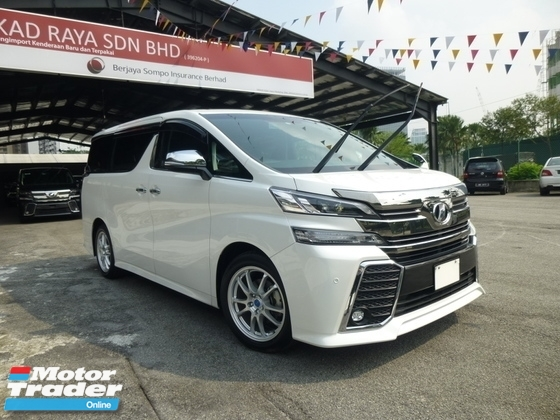 2016 TOYOTA VELLFIRE 2.5 ZG. Price NEGOTIABLE. FULL LOAN. Provide WARRANTY. Free Servicing. ALPHARD Estima Odyssey