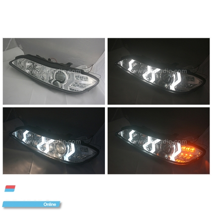 Nissan Silvia S15 99 Projector Headlamp w Bar Lighting