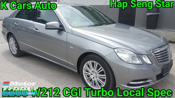 2013 MERCEDES-BENZ E-CLASS E200 W212 CGI TURBO LOW MILEAGE 54K KM DONE FULL SERVICE BY MERCEDES HAP SENG STAR BALAKONG EXCELLENT CONDITION