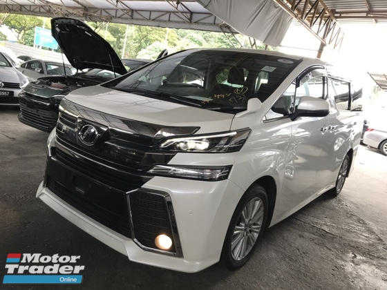 2016 TOYOTA VELLFIRE 2.5 Z 8 SEATERS POWER BOOTH 360 4 CAMERA BLACK INTERIOR 2016 JAPAN UNREG NO SST