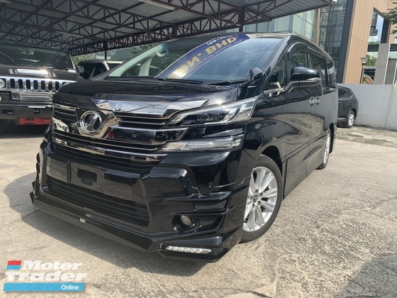 2015 TOYOTA VELLFIRE 2.5 ZA TRD BODYKIT SUNRROF BIG ALPINE PLAYER 2 POWER DOOR 7 SEATS UNREG