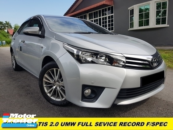 2016 TOYOTA ALTIS 2.0 V FACELIFT FULL SERVISE RECORD TOYOTA ORIGINAL PAINT ONE OWNER CONDITION TIP TOP  9 YEAR