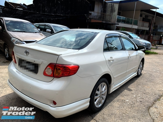2009 TOYOTA COROLLA ALTIS 1.8 FULL SPORT Spec(AUTO)2009 Only 1 LADY Owner, 90K Milege, TIPTOP,ACCIDENT-Free, DIRECT-Own, with FULL SPORT Spec& AIRBEGs