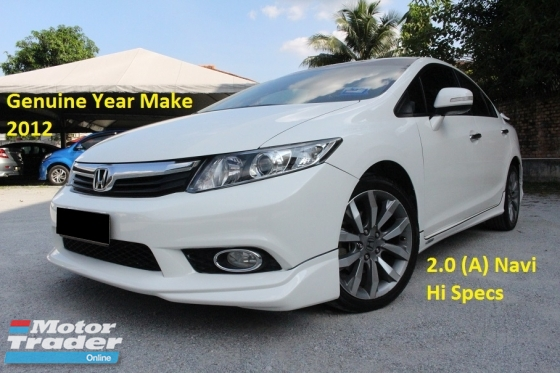 2012 HONDA CIVIC 2.0 (A) Navi iVtec (Ori Year Make 2012)(Full Loan 9 Years)(1 Owner)