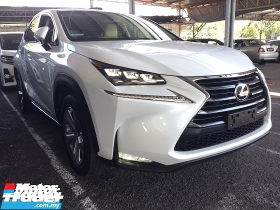 2015 LEXUS NX 200 T UNREGISTER.HIGHSPEC.SPORT PADDLE SHIFT.CREAM LEATHER.MEMORY SEAT.POWER BOOT.SIDE N REAR CAMERA.AUTO CRUISE N ETC.FREE WARRANTY N MANY GIFTS
