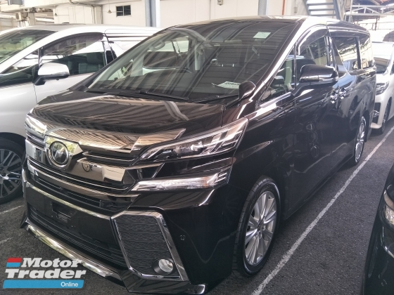 2016 TOYOTA VELLFIRE 2.5 ZA PRE CRASH STOP SYSTEM POWER BOOT SURROUND 360 CAMERA  ALPINE DVD WITH REAR ALPINE MONITOR