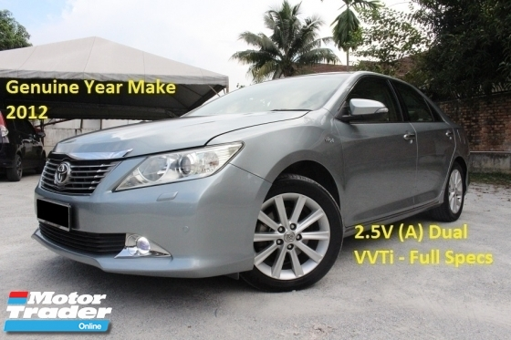 2012 TOYOTA CAMRY 2.5 V (A) Dual VVTi (Ori Year 2012)(Premium Home Theatre System)(1 Owner)(Loan 9 Years)