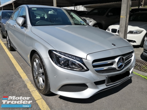 2018 MERCEDES-BENZ C-CLASS C180 Turbo New Model New Car Interest TRUE YEAR MADE 2018 NO SST Mil 8k only Warranty to 2022