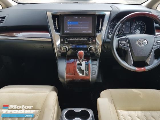 2016 TOYOTA VELLFIRE 2016 Toyota Vellfire 2.5 V Spec JBL Home Theater System Pre Crash Power Boot 2 Power Door 7 Seater Memeory Seat Unregister for sale