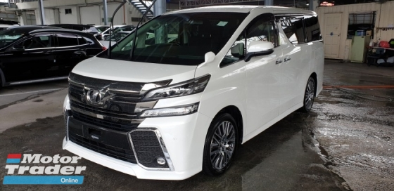 2016 TOYOTA VELLFIRE 2.5 ZG ACTUAL YEAR MAKE 2016 NO HIDDEN SST
