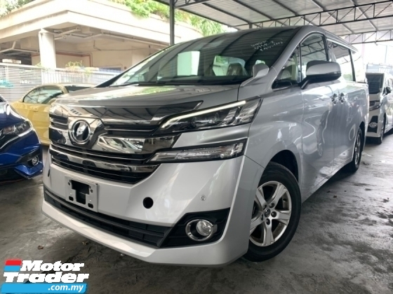 2016 TOYOTA VELLFIRE 2.5 X SPEC 2 POWER DOOR 8 SEATER UNREG 1 YEAR WARRANTY