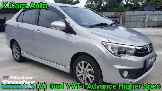 2017 PERODUA BEZZA 1.3 (A) DUAL VVT-i ADVANCE HIGH SPEC TOUCH SCREEN REVERSE CAMERA LEATHER SEAT WARRANTY UNTIL 2022