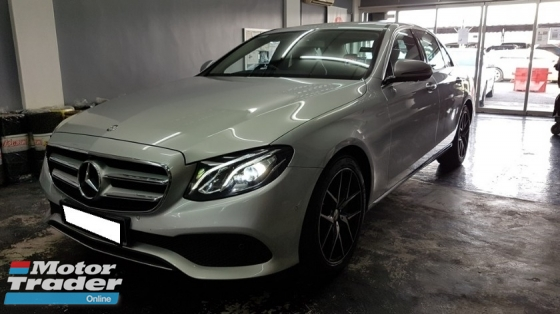 2016 MERCEDES-BENZ E-CLASS E200 W213 2.0cc AVANTGARDE (A) REG 2016, CBU, ONE CAREFUL OWNER, FULL SERVICE RECORD, LOW MILEAGE DONE 39K KM, UNDER WARRANTY UNTIL JUNE 2020