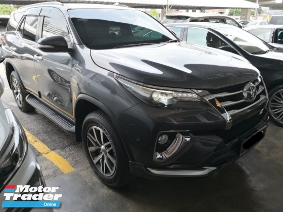 2017 TOYOTA FORTUNER 2.7 Auto SRZ Petrol TRUE YEAR MADE 2017 NO SST Mil done 9k only Warranty unitl 2022