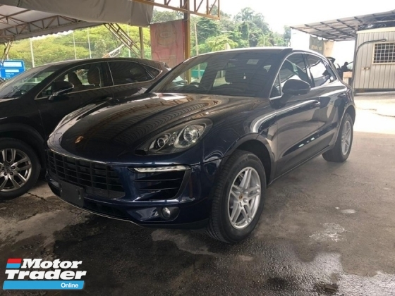 2015 PORSCHE MACAN 3.0 V6 S REVERSE CAMERA PADDLE SHIFT POWER BOOTS ELECTRIC LEATHER SEATS JAPAN SPEC