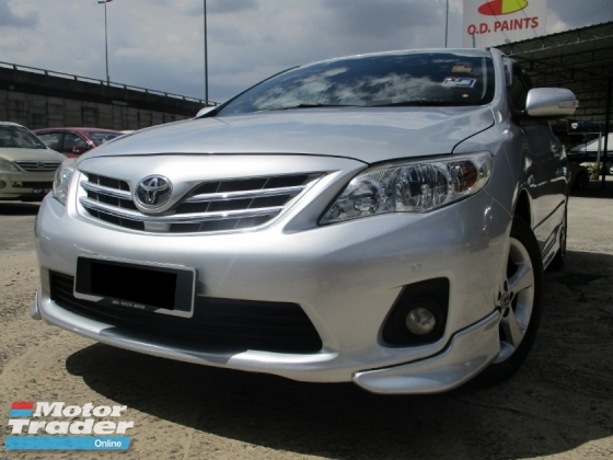 2013 TOYOTA ALTIS 1.8 E (A) Facelift Full Bodykits