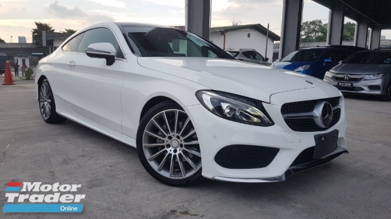 2016 MERCEDES-BENZ C-CLASS 2016 Mercedes C180 Coupe AMG Sport Japan Panaromic Roof Full Red Leather Keyless Radar LKA Unregister for sale