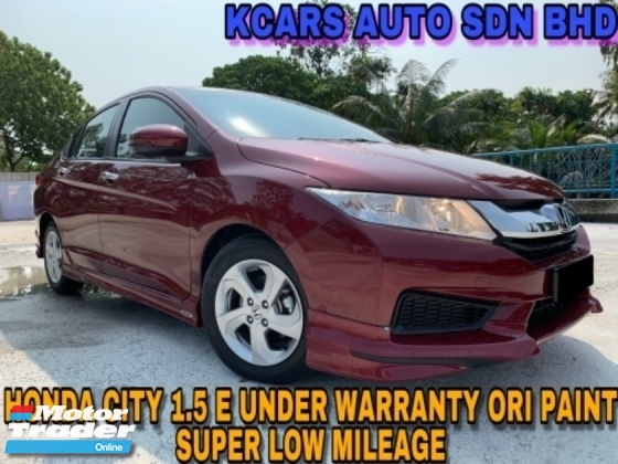 2016 HONDA CITY 1.5E UNDER WARRANTY ORI PAINT FULL SVC RCD