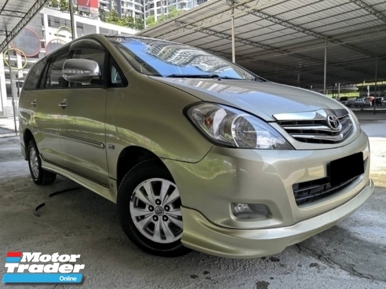 2010 TOYOTA INNOVA Toyota Innova 2.0 G AT TIP TOP CONDITION ONEOWNER