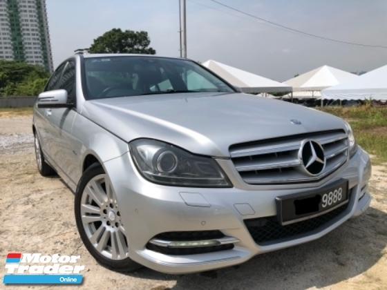 2012 MERCEDES-BENZ C-CLASS C200 BLUE EFFICIENCY AVANTGARDE, W204 Facelift, Daylight, Black interior, Call Now