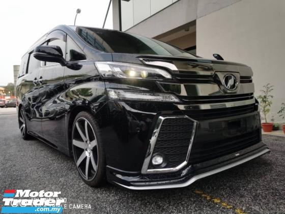 2017 TOYOTA ALPHARD Toyota alphard 2.5 Sa type black