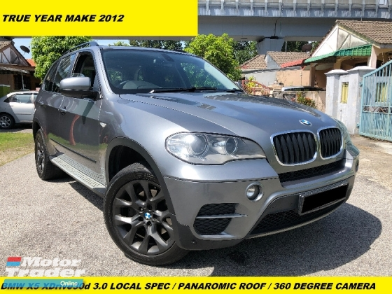 2012 BMW X5 XDRIVE 30D LOCAL SPEC PANAROMIC ROOF 360 DEGREE CAMERA LEATHER SEAT 7 SEATER
