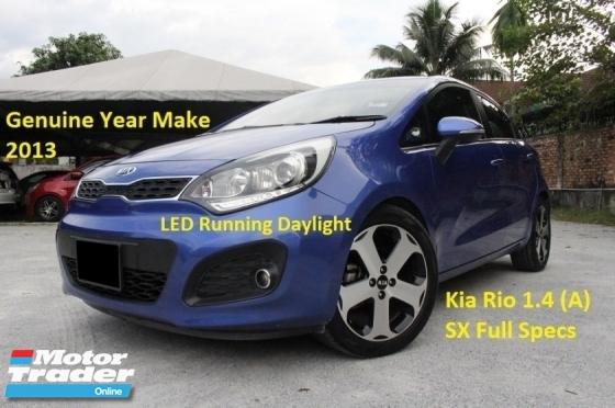 2013 KIA RIO 1.4 SX (A) Sunroof Full Specs (Ori Year Make 2013)(Full Service Record with Kia Msia)
