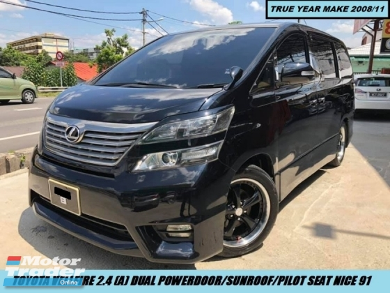 2008 TOYOTA VELLFIRE 2.4 ZG Dual Power Door Sunroof Nice Plate 91