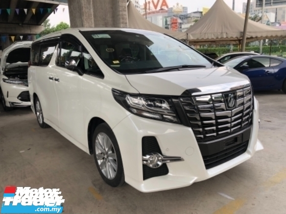 2015 TOYOTA ALPHARD 2015 Unreg Toyota Alphard SA Sunroof 360view PowerBoot JBL Sounds 7G