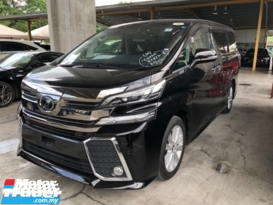 2015 TOYOTA VELLFIRE Unreg Toyota Vellfire ZA 2.5 Sunroof Home Theater JBL Sounds Syetem PowerBoot Push Start