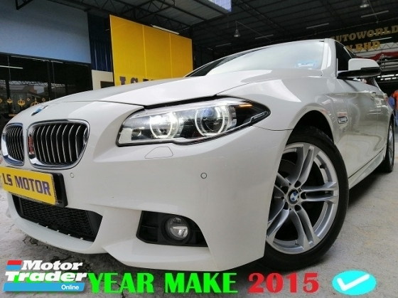 2015 BMW 5 SERIES 528I M-SPORTS facelift model - brand new CKD - head up display - navi- paddle shift - twin power turbo engine - full service record bmw - under warranty till 2020 - like new - view to believe