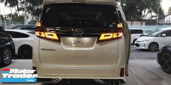 2018 TOYOTA VELLFIRE 2.5 ZG NEW FACELIFT  / JAPAN MODELISTA KITS  / SUNROOF  / JPN NAPPAL FULL LEATHER  / ORIGINAL MILEAGE / FREE 4 YEARS WARRANTY
