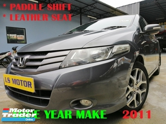 2011 HONDA CITY 1.5E PADDLE SHIFT - LEATHER SEAT - FULL SERVICE RECORD - 1LADY OWNER - ACC FREE - NO REPAIR NEEDED - VIEW TO BELIEVE - HOT DEAL UNIT
