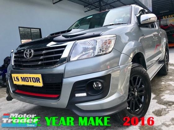 2016 TOYOTA HILUX DOUBLE CAB 3.0 TRD SPORTIVO D4D DIESEL - LEATHER SEAT - DVD - REVERSE CAMERA - NO OFF ROAD USE BEFORE - ELECTRONIC SEAT - 4NEW TYRE - FULL LOAN - NEW CAR CONDITION - VIEW TO BELIEVE