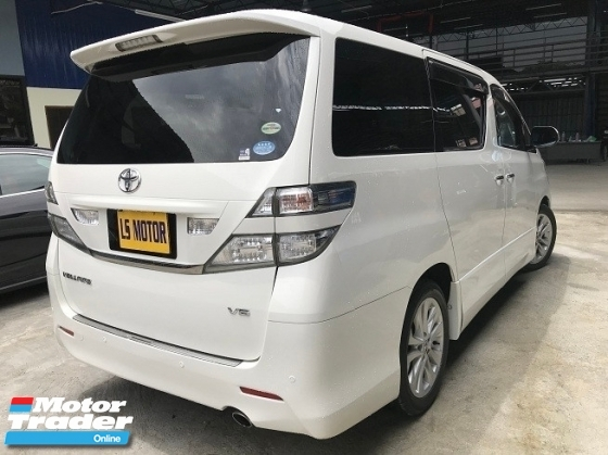 2011 TOYOTA VELLFIRE 3.5Z G EDITION COOLER BOX - V6 VVTI ENGINE - 2POWER DOOR - POWER BOOT - HOME THEATHER - WELCAB CHAIR -  REVERSE CAMERA -
