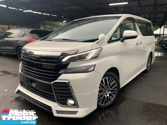 2016 TOYOTA VELLFIRE 2.5 ZG SUNROOF BODYKITPILOT SEATS 3 POWER DOOR UNREG